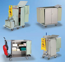 Click Here for our Housekeeping Carts, Linen Carts and all other Cabinet-Type Units