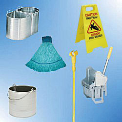 Click Here for Wringers, Buckets, Mops, Mop Sticks and Wet Floor Signs