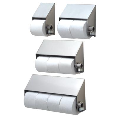 Slanted stainless steel toilet paper holders