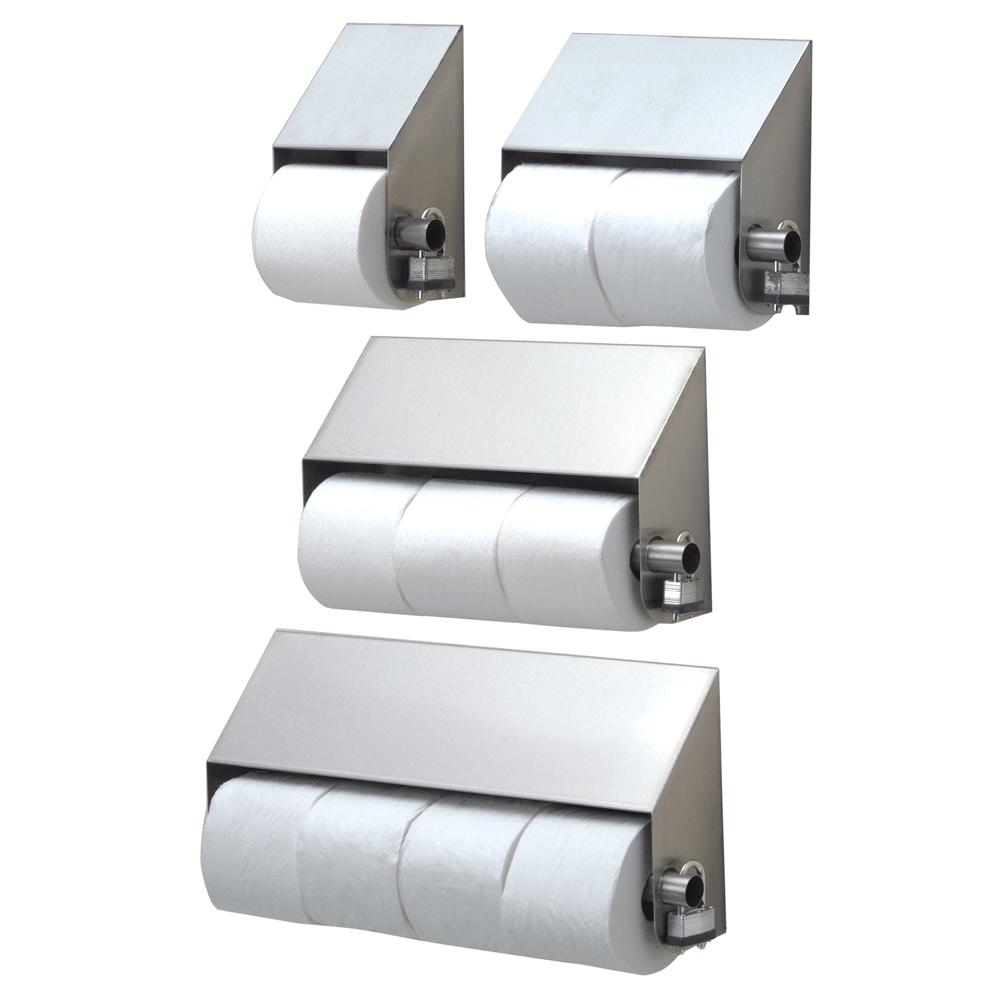 Model #STP-4 Stainless Steel Slanted Quadruple Roll TP Dispenser Royce Rolls