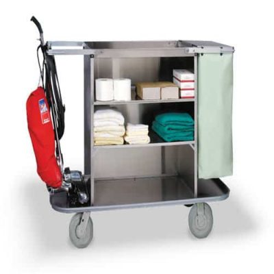 Housekeeping Cart with Double Handles