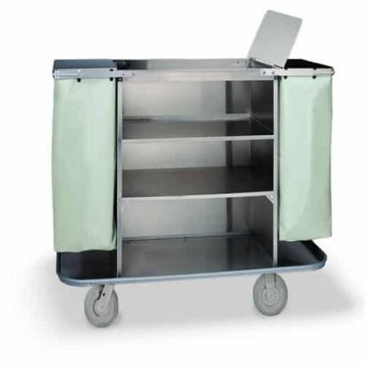 Linen Cart with Trash Lids