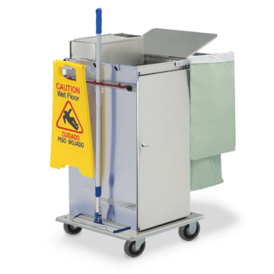 Microfiber Housekeeping Cabinet Cart