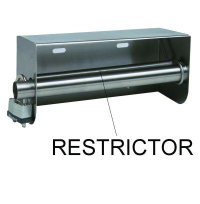 Restrictor for Toilet Paper Rolls