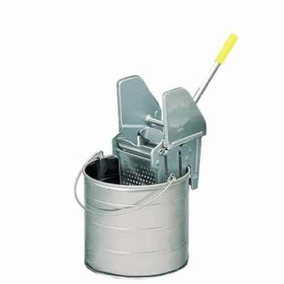 Durable round bucket with wringer