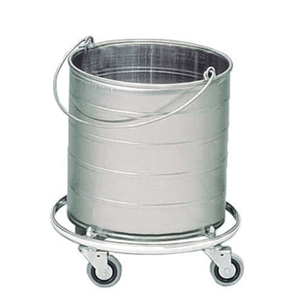 Single Round Bucket on Casters