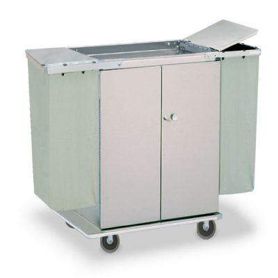 Double Door Linen Cart With Short Handle Ll 32shdd