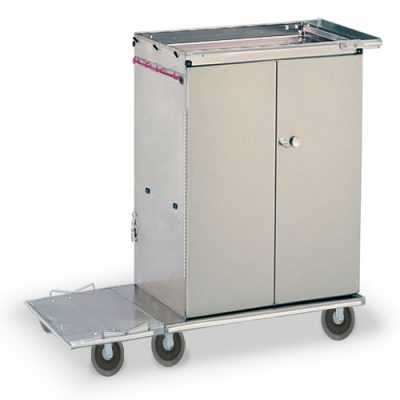 Folding Double Door LInen Cart