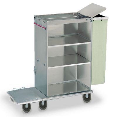 Doorless Folding Janitorial Cart