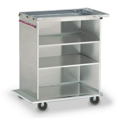 Open shelf linen cart