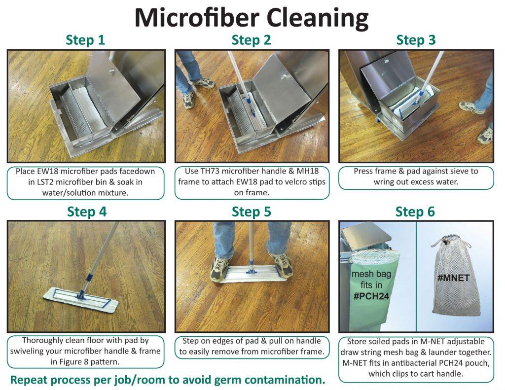Microfiber Tub Instruction Sheet