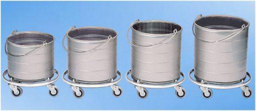 Stainless Steel Mop Buckets on Wheels