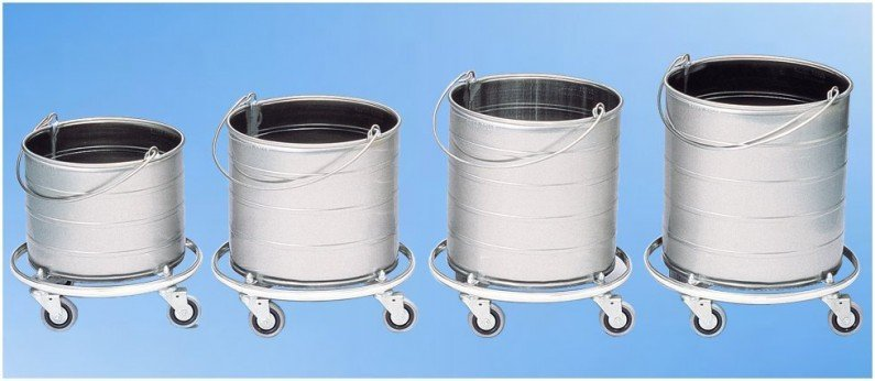 Round Mop Buckets On 3 Casters Roycerolls Net