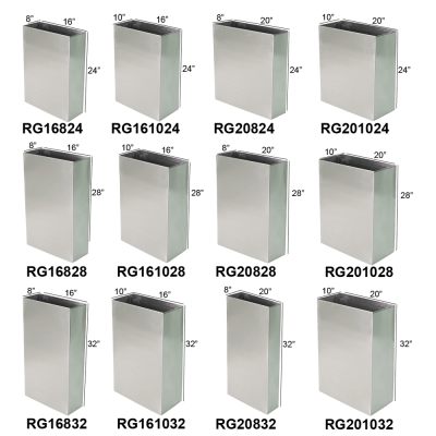 Rectangular Containers Heavy Duty Stainless Steel