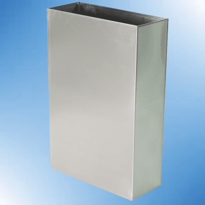 Smooth Stainless Steel Trash Bins
