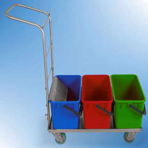 Cart with tubs