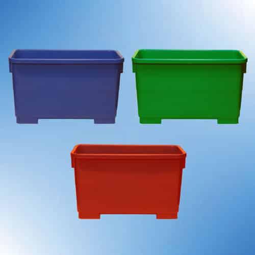Autoclavable plastic tubs