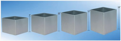 Stainless steel square bins