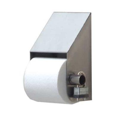 One roll slanted toilet paper dispenser