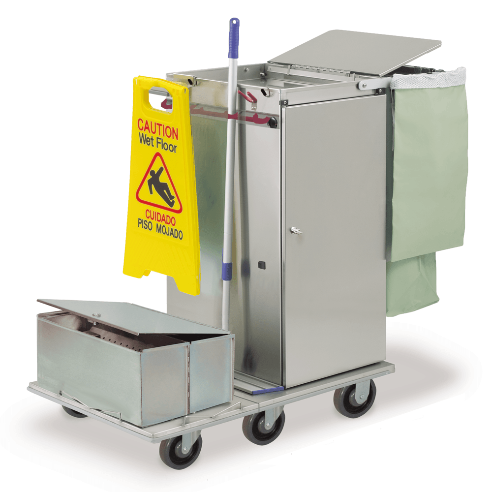 Microfiber Carts with Tub & Lid Systems