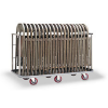 Stainless trash cart carrying chairs