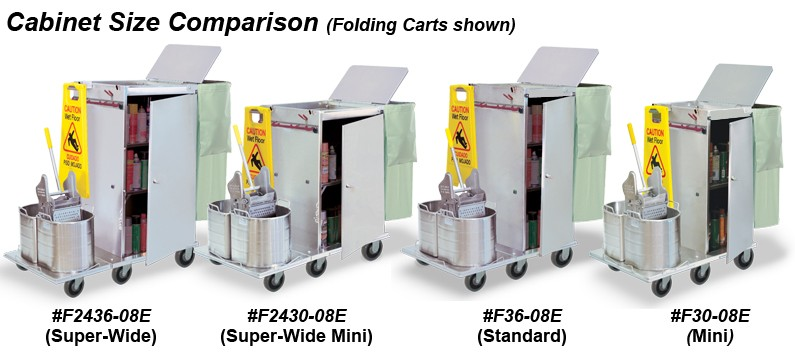 Carts with buckets on front
