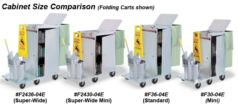 Carts with Single Mop Bucket/Wringer