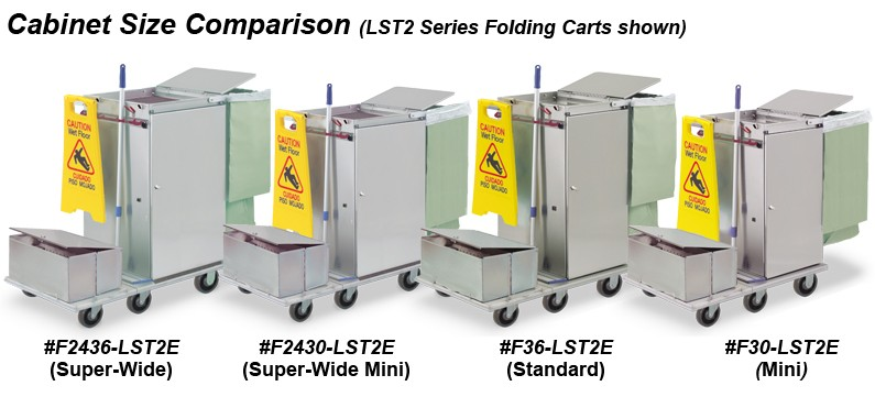 Microfiber carts with single locking tubs