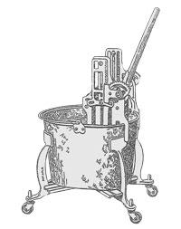 Old bucket wringer