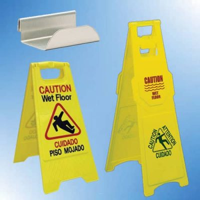 Cart Sign Holder - Wet Floor Signs