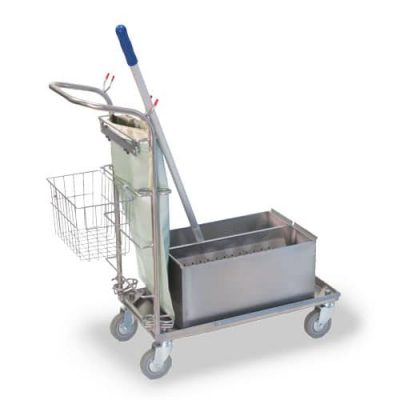 Small Microfiber Cart with Tubs and Pouch