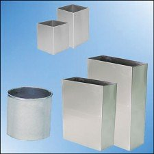 Stainless Steel Trash Bins and Containers