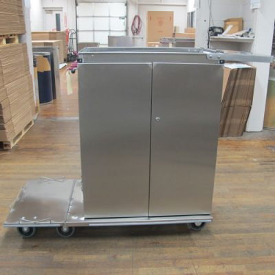 Double door large housekeeping cart