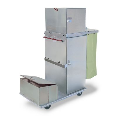 Psychiatric Hospital Secure Stainless Cart