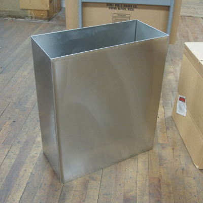 rectangular bins with minor scuffs