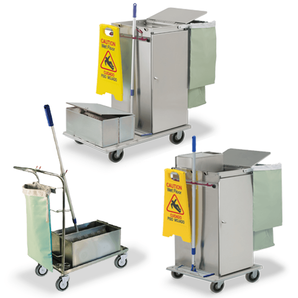 Microfiber Cleaning Carts