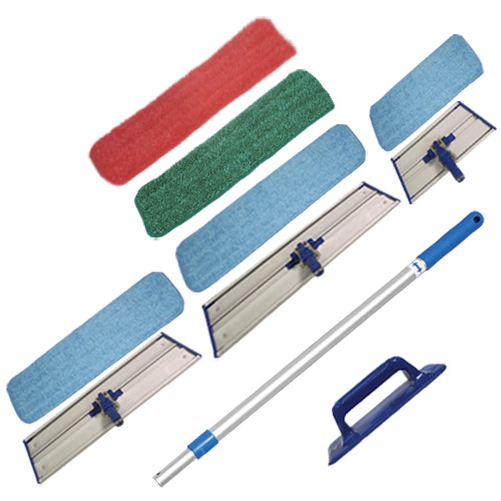 Microfiber Pads, Frames & Mop Sticks