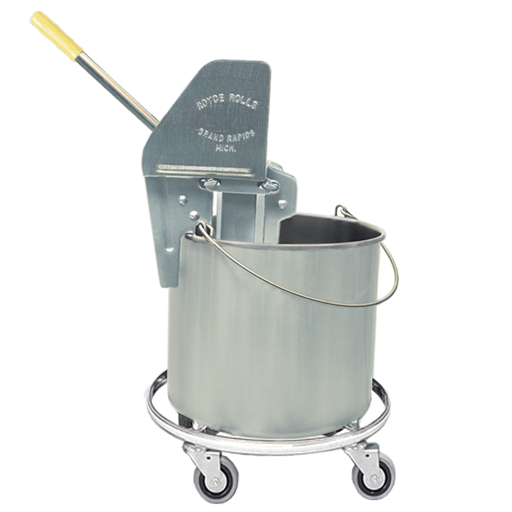 Seamless wheeled bucket and wringer
