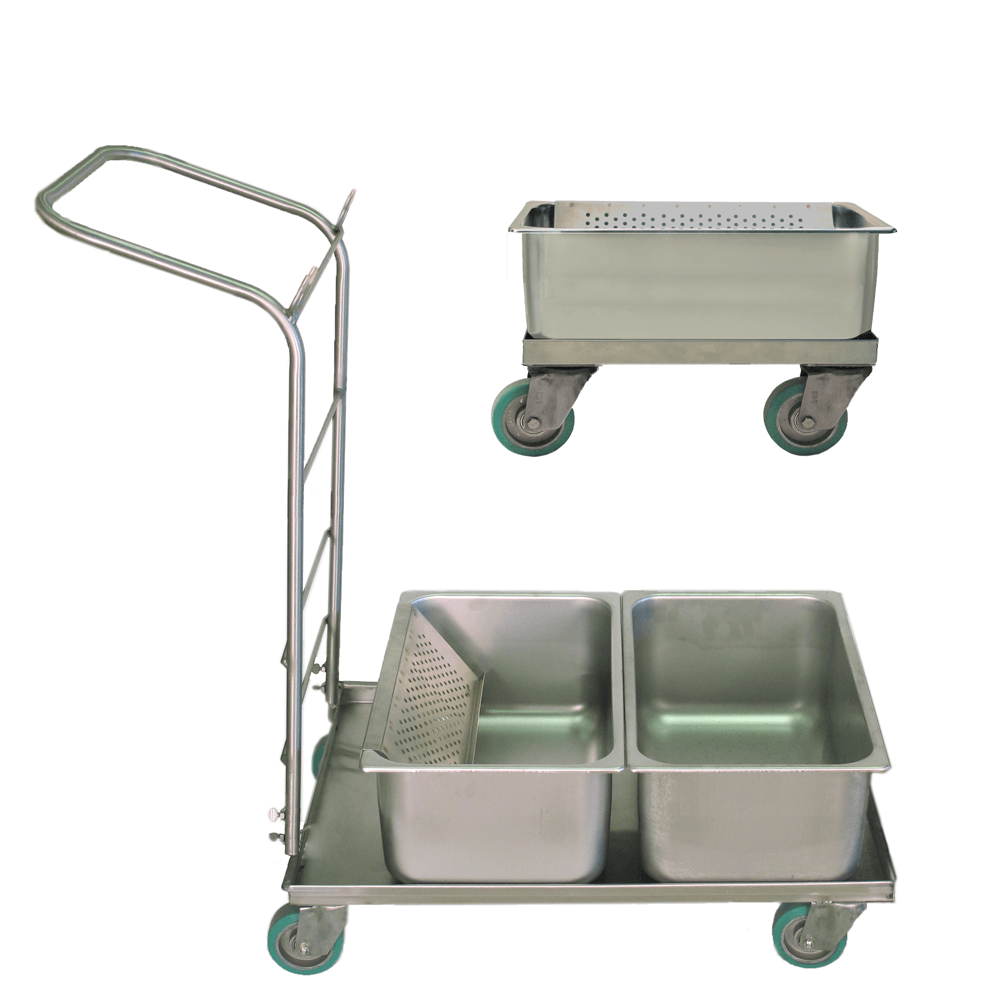 Stainless Steel Flat Mop Tub Systems