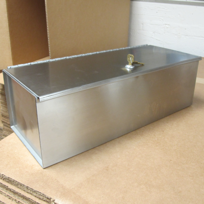 secured stainless steel box