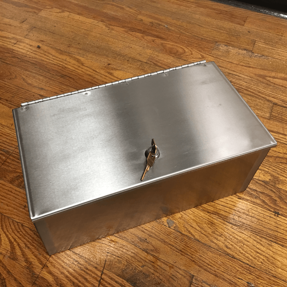 "15"" Stainless Steel Lock Box"